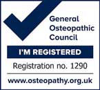 General Osteopathic Council Registration Mark No 1290